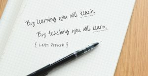 Latin Proverb Re: Learning and Teaching