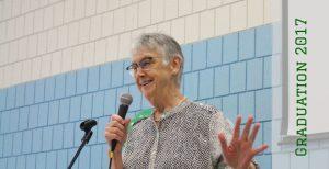 Pat Montgomery Giving Clonlara's Commencement Address, June 2017