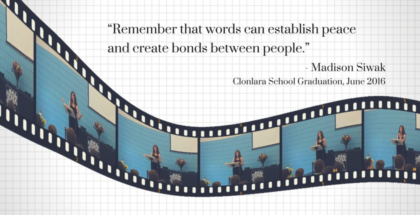 Madison Siwak Quote Re: The Power of Words